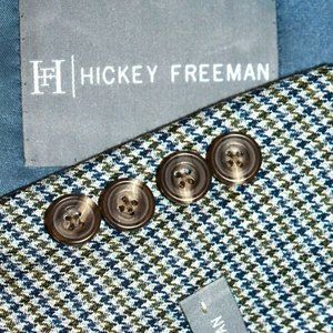 NWT $1095 40R Hickey Freeman Blue Green BLAZER